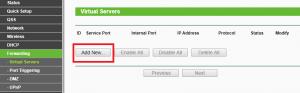 virtual servers add new