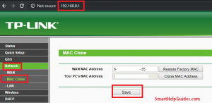 change or clone tp-link router mac address