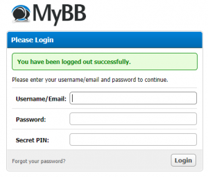 mybb admin login secret pin