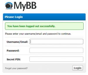 mybb admin login secret pin