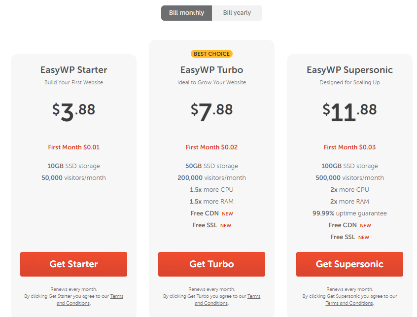 namecheap easy wp hosting plans
