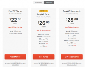 namecheap easy wp yearly plans