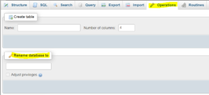 database namechange option